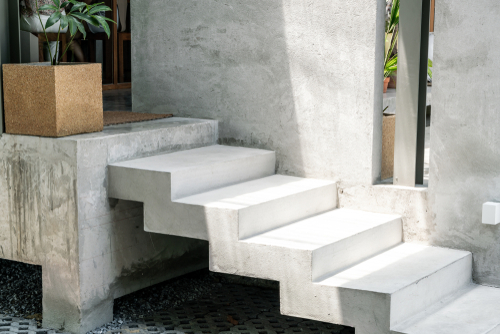 Abstract,Concrete,Stair,Step,For,Decoration